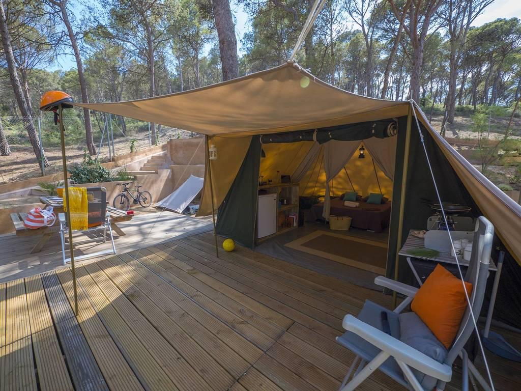 Tente lodge de waard 5 personnes 2 chambres tente 3p for Tente deux chambres
