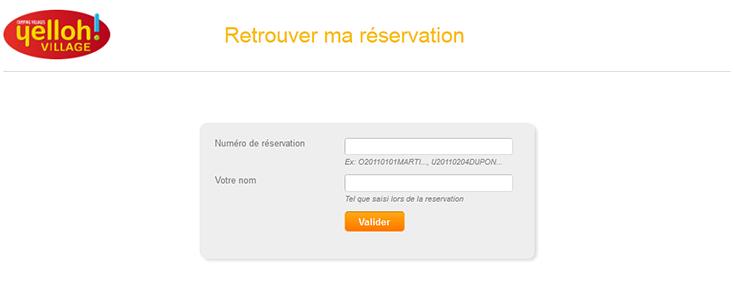 Retrouvez votre réservation