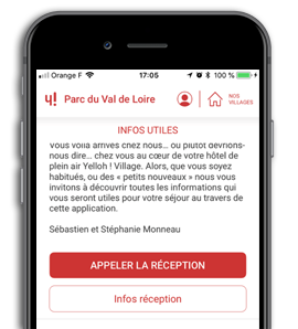 L'application de Yelloh! Village