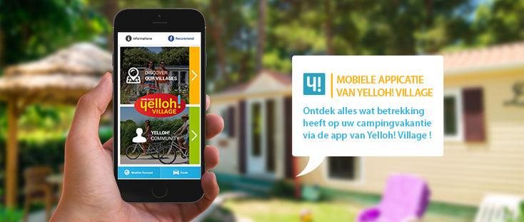 Mobiele applicatie van de Yelloh! Village