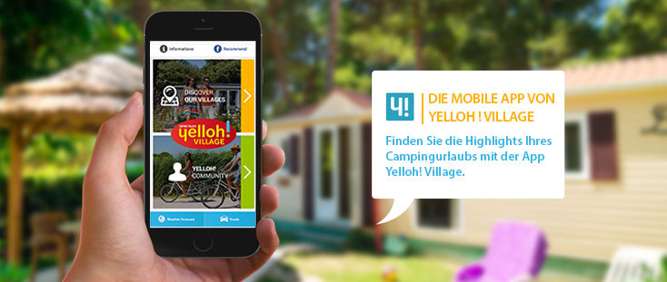 Mobile App von Yelloh! Village